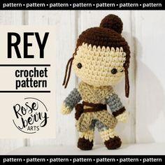 Rey from Star Wars Crochet Pattern Instant by RoseberryArts