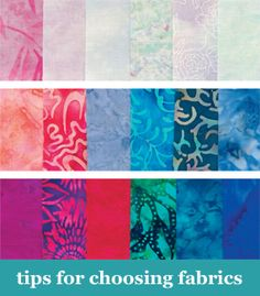 Tips for choosing fabrics