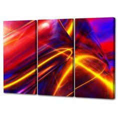 Menaul Fine Art's 'Improvisation in Triptych' by Scott J. Menaul