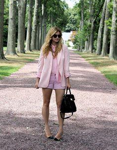 {pink suit}
