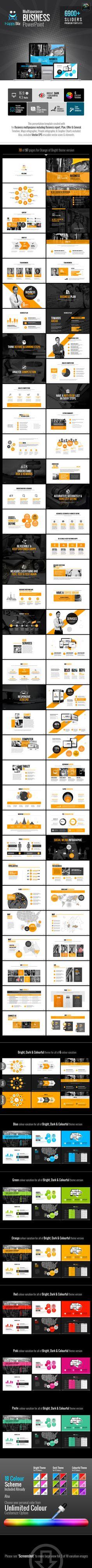 HappyBiz Multipurpose Business TemplatePowerPoint Template / Theme / Presentation / Slides / Background / Power Point #powerpoint #template #theme