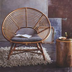 Ringo Braziliana Relax Chair Design Lounge Chair in Rattan Baby Furniture Sets, Cane Furniture, Bamboo Furniture, Outdoor Furniture, Black Rattan Chair, Rattan Chairs, Chair Cushions, Rattan Armchair, Chair Upholstery