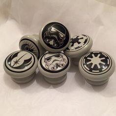 Set of Six Star Wars Logo Door Drawer Dresser by SurfaceCandy