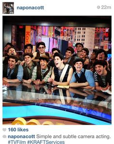"""""""Simple and subtle camera acting."""" Love those Newsies. Corey's face is the best."""