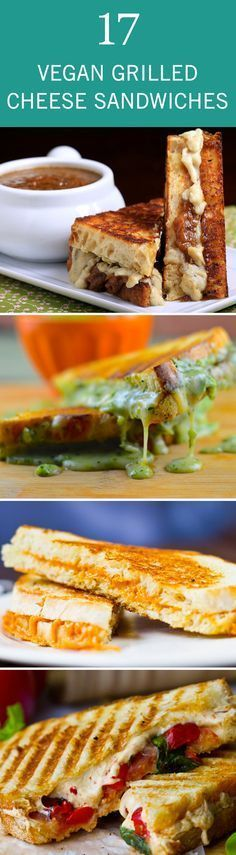 17 Swoon-Worthy Vegan Grilled Cheese Sandwiches - My Vegan Recipes Vegan Foods, Vegan Snacks, Vegan Dishes, Vegan Vegetarian, Vegan Recipes, Cooking Recipes, Skillet Recipes, Easy Recipes, Wrap Recipes
