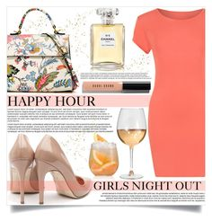 """Happy Hour"" by mistressofdarkness ❤ liked on Polyvore featuring WearAll, Tory Burch, Rupert Sanderson, Bobbi Brown Cosmetics and Chanel"