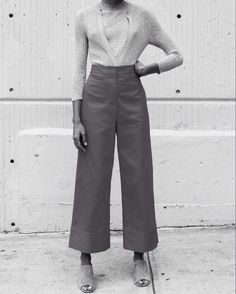 ribbed knit, culottes & sandals #style #fashion #summer