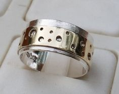 Silver and Gold Jewelry Designer by TalyaHarelDesign Kids Gold Jewellery, Gold Jewellery Design, Rose Gold Jewelry, Unique Jewelry, Gold Wedding Rings, Wedding Ring Bands, Silver Rings, Metal Clay Rings, Jewelry Model