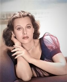 Colored with Algorithmia Old Hollywood Glamour, Golden Age Of Hollywood, Hollywood Stars, Classic Hollywood, Hedy Lamarr, Hedwig, Female Stars, Famous Celebrities, Mode Vintage
