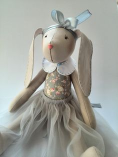 Gift for sisters Bunny doll Fabric toy Stuffed by HandmadeToyStore