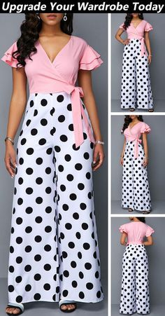 New Outfits Stylish Outfits Spring Outfits Cute Outfits Fashion Outfits African Dress Printed Jumpsuit Pink Jumpsuit Everyday Fashion Trendy Outfits, Summer Outfits, Cute Outfits, Fashion Outfits, Womens Fashion, Fashion Trends, African Fashion Dresses, African Dress, Vetement Fashion