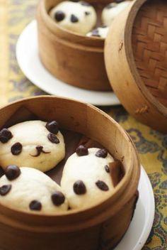 Cute panda breads^^;; korean dessert