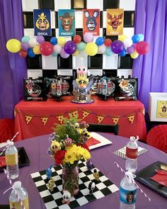 Partyscape from Five Nights at Freddy's Birthday Party at Kara's Party Ideas. See more at karaspartyideas.com!