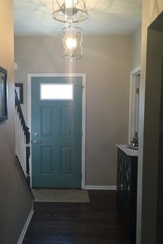 Painted Interior Front Door Valspar Paint Color Patina Blue On Door Revere Pewter On