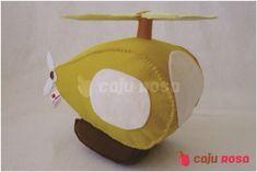 Helicóptero em feltro | Caju Rosa | Elo7