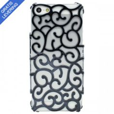 iPhone 5/5S cover- Hollow pattern design - Sort