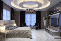 Hussain House New commercial work Modern Bedroom Interior Design and Render By Yakdi Arch Studio design Studios Architecture, Interior Architecture, Interior Design, Home Ceiling, Rooms Home Decor, Ceiling Design, House Design, Design Design, Modern Bedroom