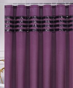 Take a look at this Purple Sequin Moline Shower Curtain by CHD Textiles on #zulily today!