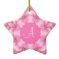 Pink and Green Christmas Ornament | Zazzle