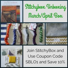 March and April Stitchybox Goodies!