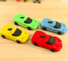 12 Pieces Fun Express Race Car Eraser