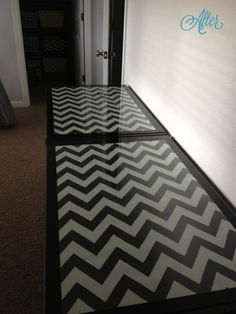 after chevron desk DIY