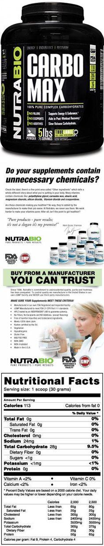 NutraBio CarboMax Maltodextrin - NON-GMO - Unflavored -5 Pounds