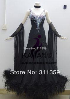 KAKA DANCE B1411,2014 New Style!Black Feather Ballroom Standard Dance Dress,Waltz Competition Dress,Women,Ballroom Dance Dress-in Ballroom from Novelty & Special Use on Aliexpress.com   Alibaba Group