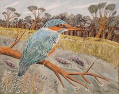"""""""Kingfisher"""" by Emily Sutton (watercolour)"""