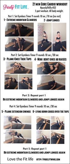 21 minute core cardio at home workout. Killer workout for women to get in shape at home and tighten up their entire body. A mix of cardio and strength in this routine to get the best of both worlds that targets the core. 15 Minute Workout, Abs Workout Video, Abs Workout Routines, Cardio Routine, Workout Tips, Killer Workouts, Ab Workouts, Workout Exercises, Workout Template