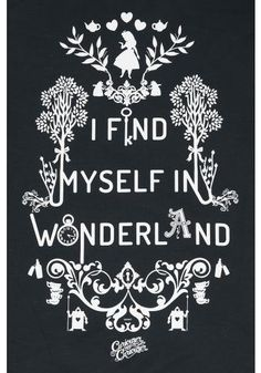 I Find Myself In Wonderland - Turnbeutel von Alice im Wunderland
