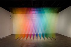 Amazing Color Spectrums Made from Thread