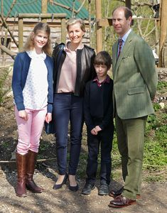 Lady Louise Windsor, Sophie, Countess of Wessex, James, Viscount Severn and Prince Edward, Earl of Wessex visit the Wild Place Project at Bristol Zoo on April 14, 2016 in Bristol, England.
