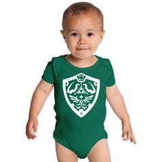Legend Of Zelda Shield Logo Baby Onesies