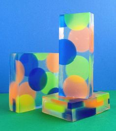 Floating Dots Soap Bars by soapylovedeb, via Flickr