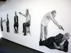 Gil Vicente, Inimigos, 2010 Desenhos a carvão, Bienal de São Paulo