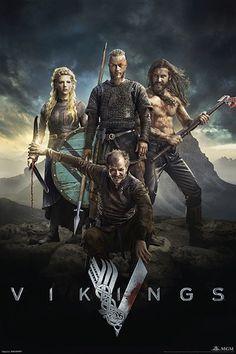 Póster Tripulación, Vikings  Póster con la imagen de la tripulación vista en la serie de Tv Vikings.