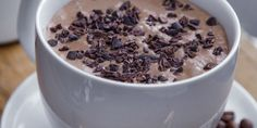 Kaffe-smoothie – Berit Nordstrand Clean Eating Recipes, Smoothie, Cereal, Oatmeal, Pudding, Snacks, Coffee, Breakfast, Desserts