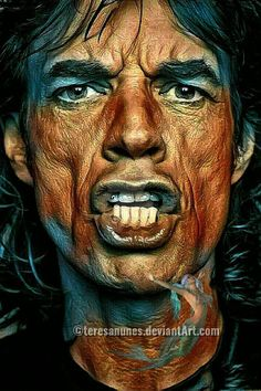 Mundo Hippie, Mick Jagger Rolling Stones, Rolling Stones Logo, Celebrity Drawings, Caricatures, Rock Legends, Keith Richards, Vintage Music, Art Music