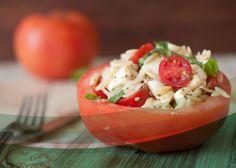 Tomates rellenos con atun y arroz