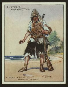 Robinson Crusoe. From New York Public Library Digital Collections.