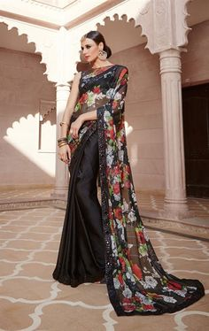 Magical Black Designer Fashion Saree