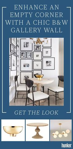 The right (and best!) way to do a chic black and white gallery wall! The finishing touches that bring the room together are just as important as the photos. Get more tips on the site. #blackandwhite #gallerywall #photos
