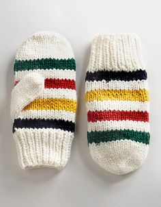 Multi Coloured Wool Mittens - The Bay