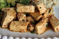 Sesame Ginger Tofu - must add chicken for the husband.