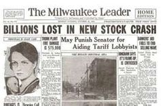 The Stock Market Crash of 1929...the end of the frantic, exciting life of the Roaring Twenties and the start of the Depression