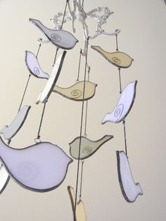 stained glass birds in tree | Stained Glass Cute Bird Mobile | Shattered by Light
