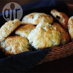 These scones are perfect for afternoon tea. They are light and fluffy. The trick is not to overwork the dough. Overworking the dough will result in a tough and rubbery scone. Serve with butter, clotted cream and jam. Scones Aux Fruits, Fruit Scones, Blueberry Scones, Baking Scones, Cherry Scones, Clotted Cream, Soda Bread, Allrecipes, Vegan Recipes
