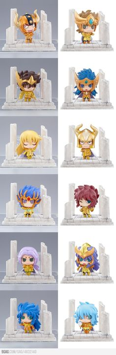 chibi gold saints! Saint Seiya Figures