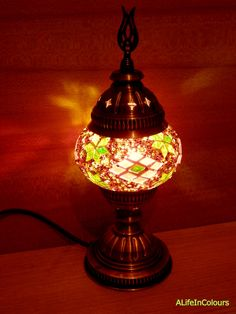 Turkish Handmade Unique Colourful Glass Mosaic Table Lamp Bedroom Gorgeous Lamp Bedroom Design Ideas